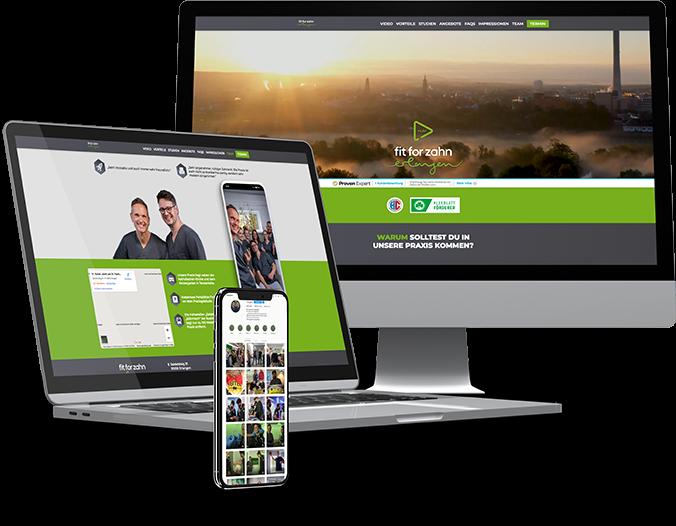 Multi Device Webseite Fit4Zahn